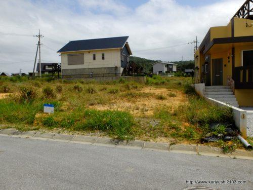 今帰仁村兼次。海が見える高台の別荘地(54.8坪)