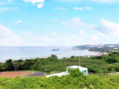 本部町に西海岸を見渡す高台の分譲地