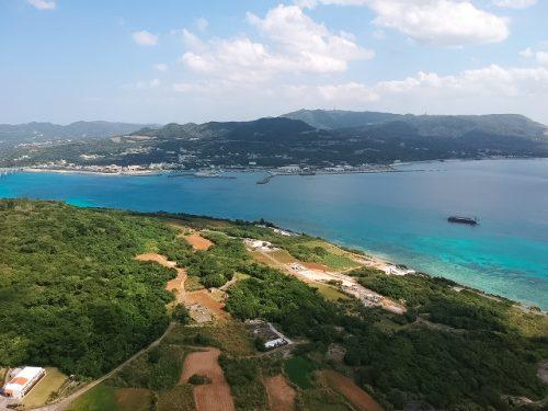 瀬底島の高台オーシャンビュー土地!
