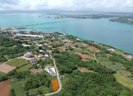古宇利島の高台オーシャンビュー土地